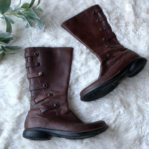 Merrell Captiva leather boots chestnut brown